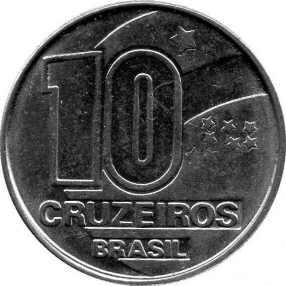 Moeda 10 cruzeiro - Brasil - 1990