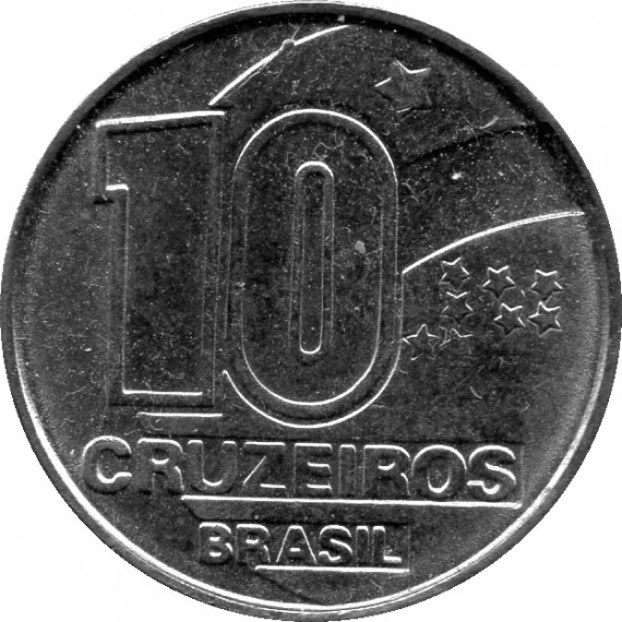 Moeda 10 cruzeiros - Brasil - 1991
