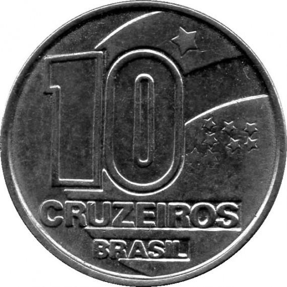 Moeda 10 cruzeiros - Brasil - 1992