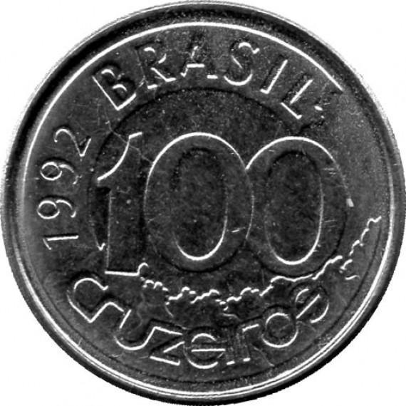 Moeda 100 cruzeiro - Brasil - 1992