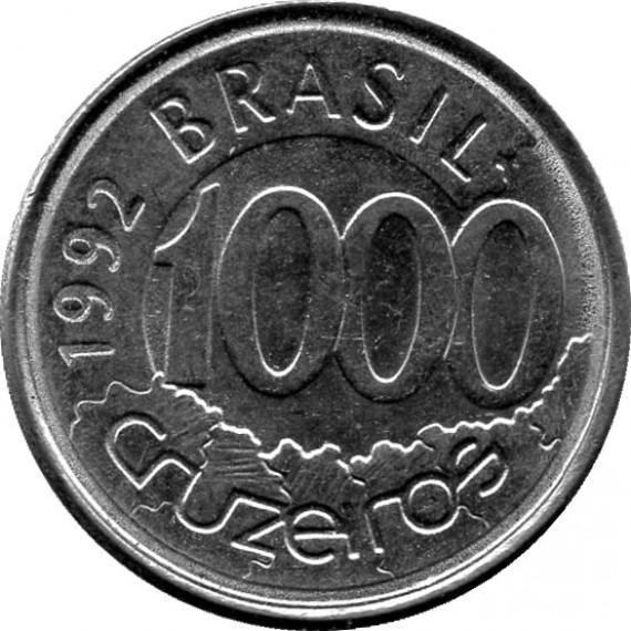 Moeda 1000 cruzeiros - Brasil - 1992
