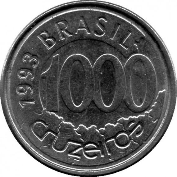 Moeda 1000 cruzeiros - Brasil - 1993