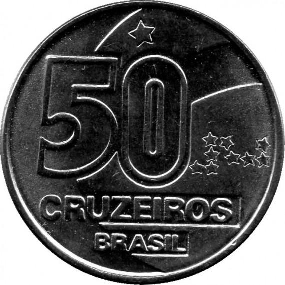 Moeda 50 cruzeiro - Brasil - 1990