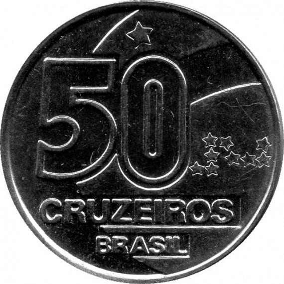 Moeda 50 cruzeiro - Brasil - 1992