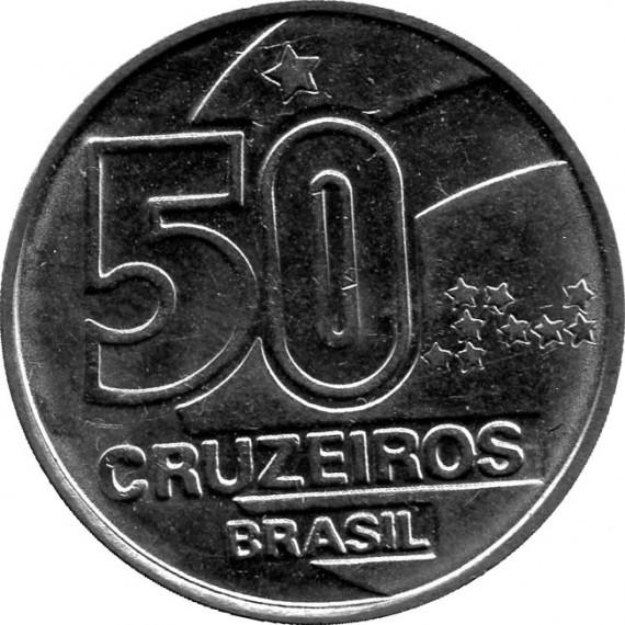 Moeda 50 cruzeiros - Brasil - 1991