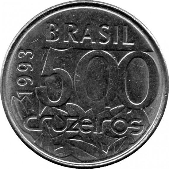 Moeda 500 cruzeiros - Brasil - 1993