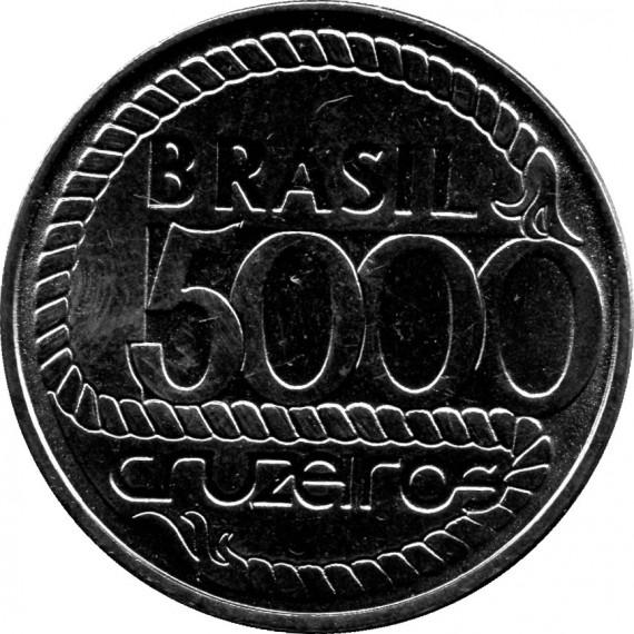 Moeda 5000 cruzeiros - Brasil - 1992