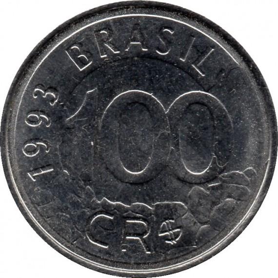 Moeda 100 cruzeiros Real - Brasil - 1993