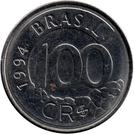 Moeda 100 cruzeiros Real - Brasil - 1994