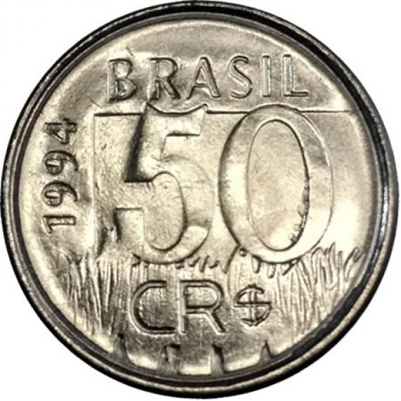 50 Cruzeiros Reais FC - Brasil - 1994 - REF:435