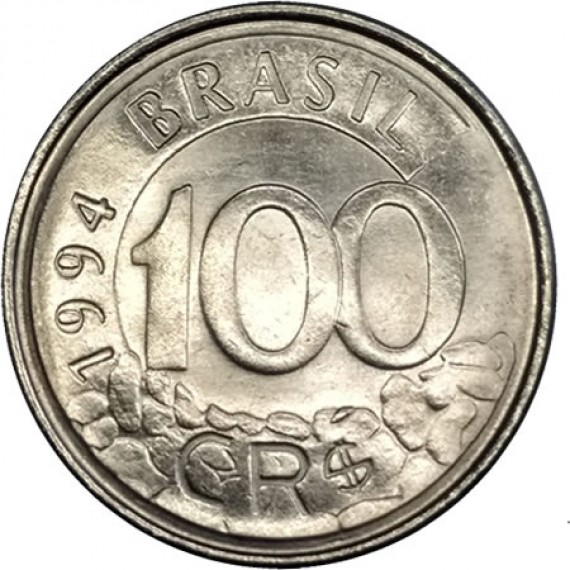 100 Cruzeiros Reais FC - Brasil - 1994 - REF:437