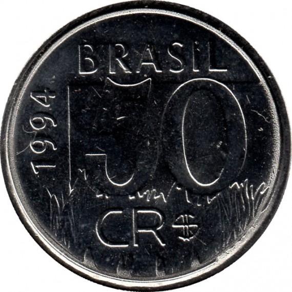 Moeda 50 cruzeiros Real - Brasil - 1994