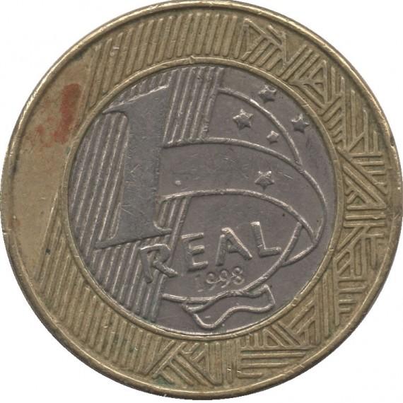 Moeda 1 real - Brasil - 1998