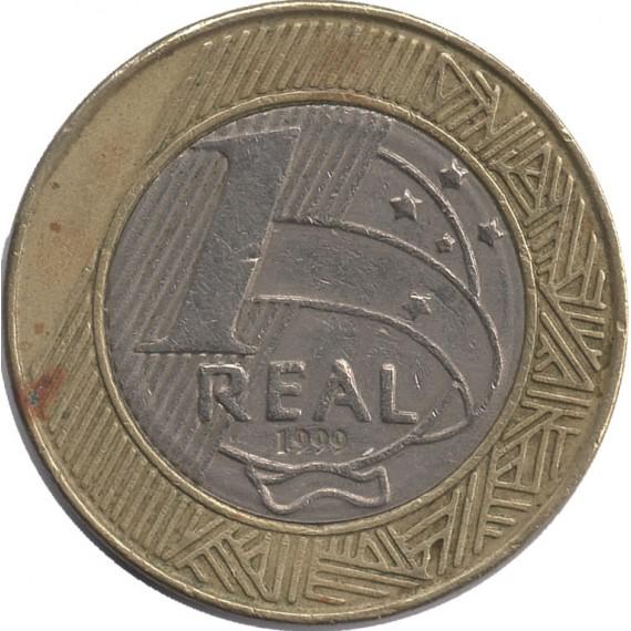 Moeda 1 real - Brasil - 1999