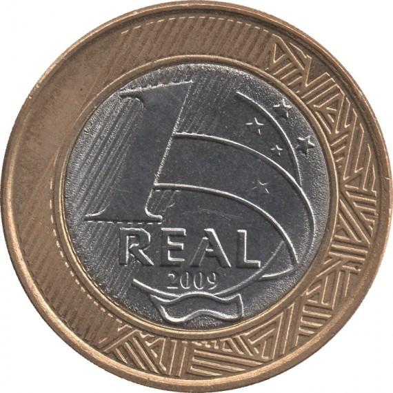 Moeda 1 real - Brasil - 2009