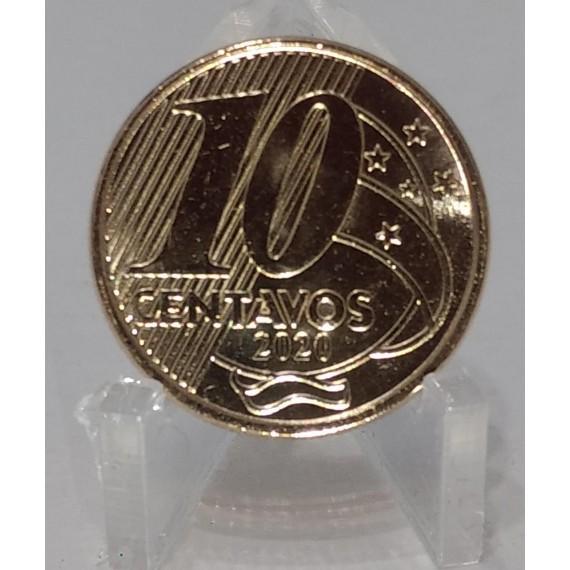 Moeda 10 Centavos de Real - Brasil - 2020 - FC