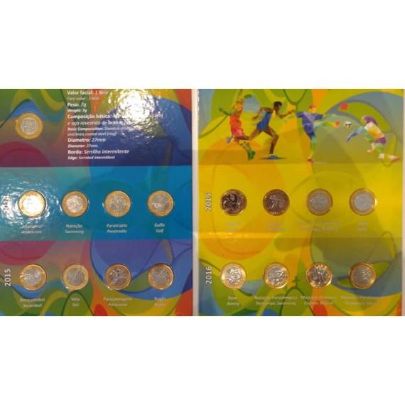 Álbum para moedas da Olimpíadas Rio 2016 - Completo MBC