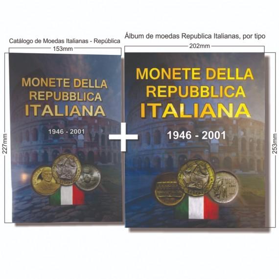 Album para moedas da Republica Italianas 1946 a 2001