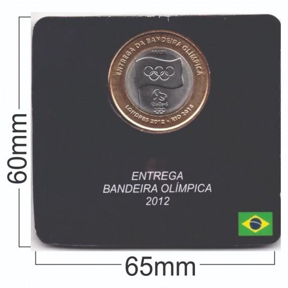 Cartela para moeda - Real Bandeira Olimpica