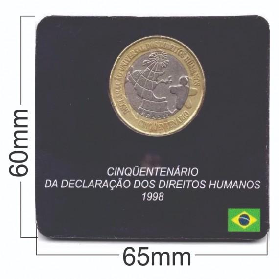 Cartela para moeda - Real Direitos Humanos