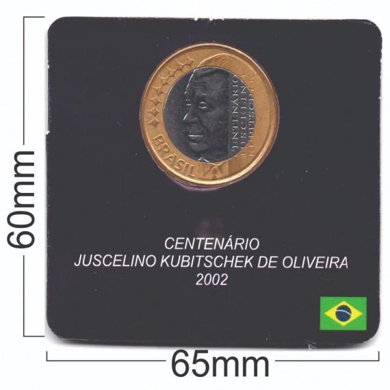 Cartela para moeda - Real Juscelino Kubitschek