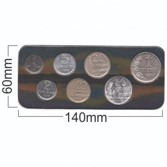 Cartela para moedas - Cruzeiros 1967 - 1979